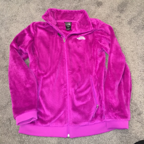 ... THIS ITEM IS SOLD! North Face Pink Purple Fuzzy Osito Full zip jacket.  M 5a75f6f233162799afe555ba b6ba4e5d9